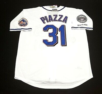 2e7bbf6e0 Mike Piazza 9/11 New York Mets Jersey 2001 Throwback Jersey with 2016 HOF  Patch