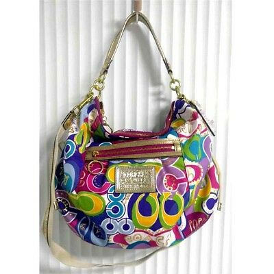 9d8df2ce1f NWT  278 + tax Coach Poppy Pop C Jazzy Hobo Shoulder Crossbody Bag 15296