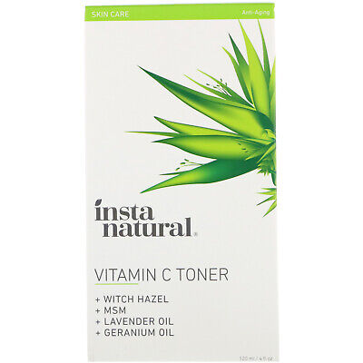 InstaNatural Vitamin C Facial Toner with Witch Hazel 4 fl oz 120 ml Not Tested