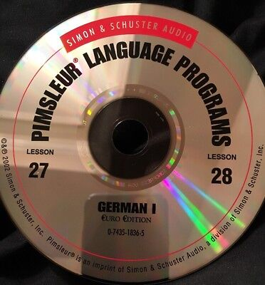 Pimsleur GERMAN I, Level 1, Replacement Disc 14, Lessons 27 & 28