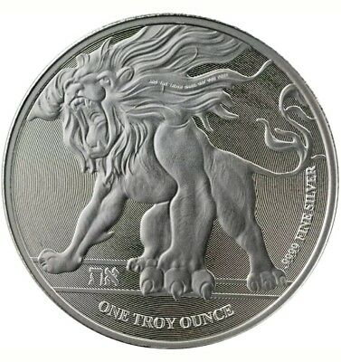 2018 Niue roaring lion 1oz Silver Coin,  uncirculated, comes in airtite case