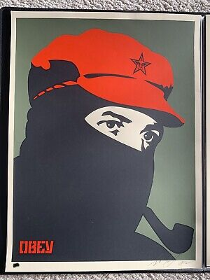 Shepard Fairey Comandante Marcos 2002 Signed Numbered Print Obey Giant