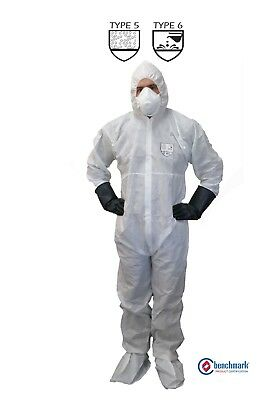 CHEMICAL SPRAYING & Asbestos Removal Rated White Disposable