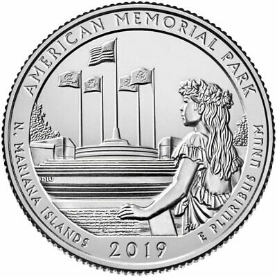 2019-P&D American Memorial Park Quarters  Northern Mariana Islands