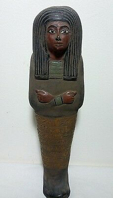RARE ANCIENT EGYPTIAN ANTIQUE USHABTI SHABTI HATSHEPSUT Tomb 1479-1458 BC