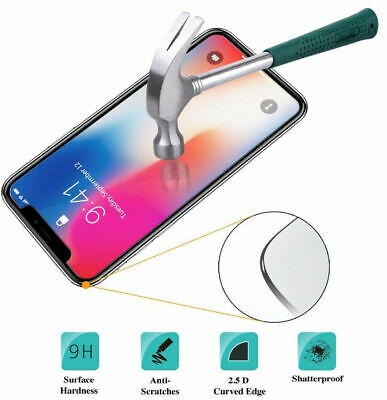 Real 9H Tempered Glass Screen Protector Film for iPhone XS Max XR X 6S 7 8 Plus