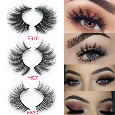 NEW 5 Pair 3D Mink False Eyelashes Wispy Cross Long Thick Soft Fake Eye Lashes