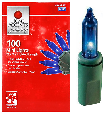207 Home Accents Holiday 100-Light Clear Mini Light Set  846376