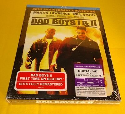 Bad Boys 1 & 2 (Blu-ray Boxset,2-Disc Set,HD Digital)NEW(Sealed)-Free Shipping