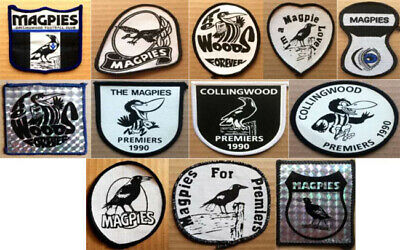 Vintage VFL/AFL Collingwood Sew on Patches(New Old Stock) SOLD INDIVIDUALLY ONLY
