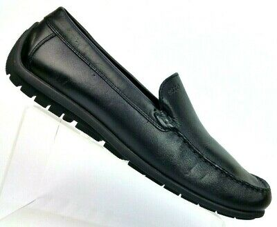 0b821dc589a ECCO Black Leather Loafer Casual Moc Driving Shoes Men s US 11-11.5   EUR 45
