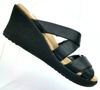 d7d7d76c5d79 Crocs Leigh Black Crisscross Strap Slide Wedge Sandals 202991 Women s US 10