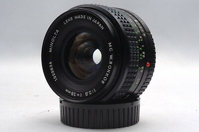 @ Ship in 24 Hours! @ Minolta MC W. Rokkor 28mm f2.8 Wide-Angle MD-Mount MF Lens