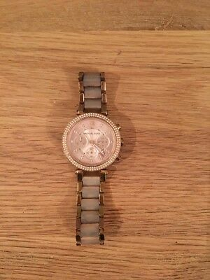 3e9a1071eccf NEW LADIES MICHAEL Kors Parker Rose Gold Plated Purple Dial Watch ...