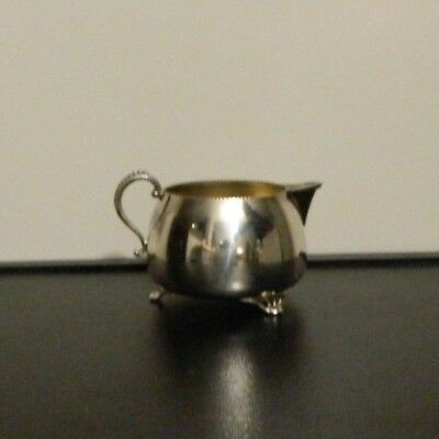 Vintage Victorian Silver Plate creamer EP Copper Antimony Lead Mounts #189