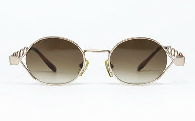 133b8201e59a5 NOS RARE VINTAGE SUNGLASSES MOSCHINO by PERSOL MM 344 GOLD TORTOISE ROUND  FRAME