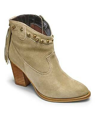 1ce77836c6e1 New Simply Be Sole Diva Grey Studded Ankle Boots Cowboy Style - Choose Sizes