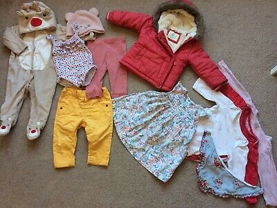 Baby Girl Clothes 6-9 Months Bundle: M&S, Next, Benetton, Mothercare