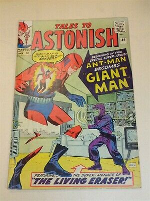 Tales To Astonish #49 Vg (4.0) Marvel Comics Giant Man November 1963**