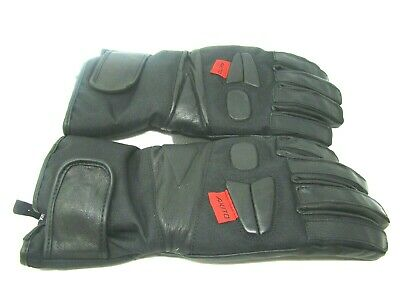 Motorcycle Gloves Black Akito Touring Motorbike Gloves Leather Palm