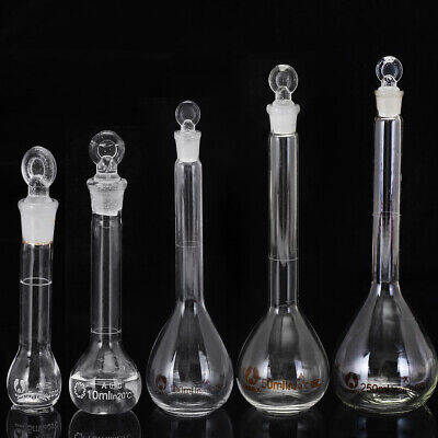 5ml-250ml Clear Glass Volumetric Flask Beakers Borosilicate Glass Round Bottom