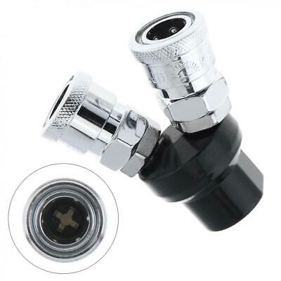 "1/4"" Air Line Hose Fittings Compressor Connector Quick Release Two Way Steel"