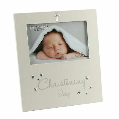 """Christening Photo Frame 4/"""" x 4/"""" Gift Boxed CG1227CH"""