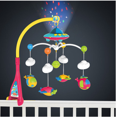 Baby Musical Cot Mobile with Starlight Projection + Music+Volume Control Grade A
