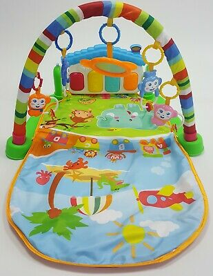 Green Baby Activity Play Gym Music and Light Piano Grade B 80*50CM