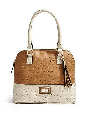0a10a7dd4e14 New Guess Cognac Little Falls Embossed Color Block Satchel Handbag Bag Purse