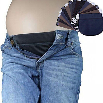 AU_ Maternity Pregnant Women Waistband Belt Adjustable Pants Waist Extender Rapt