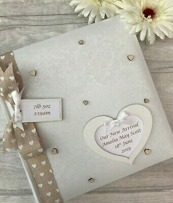 Personalised Traditional Our New Arrival Baby Photo Album Gift 200 6x4 Photos