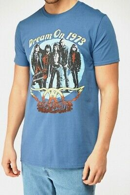 AEROSMITH T shirt Band Vintage Official Rock Music Dream On Blue Tour 1973 New