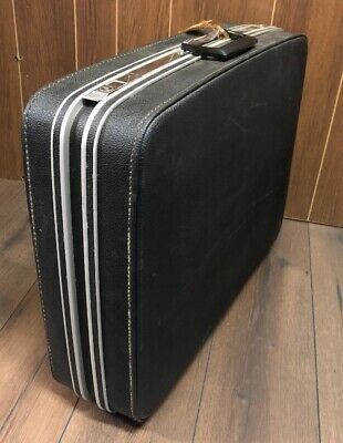 "Samsonite Fashionaire Hardside 25"" Suitcase Vintage Luggage Interior Separators"