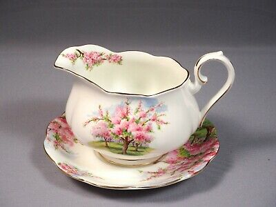 Royal Albert Blossom Time Gravy Boat Sauce Under Plate Bone China England