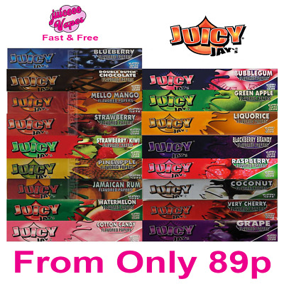 Juicy Jays King Size Flavoured Rolling Papers Smoking Tobacco Paper All Flavours