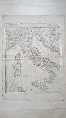 Tabula Italiae Antiquae Geographica D'Anville Laurie & Whittle 1794 Map