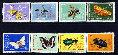 ROMANIA 1964 The Complete Insects Set SG 3126 to SG 3133 MNH