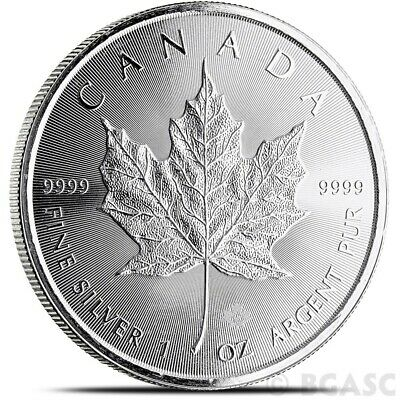 2015 1 oz Canadian Silver Maple Leaf Coin 1 Troy Ounce of 9999 Fine Silver
