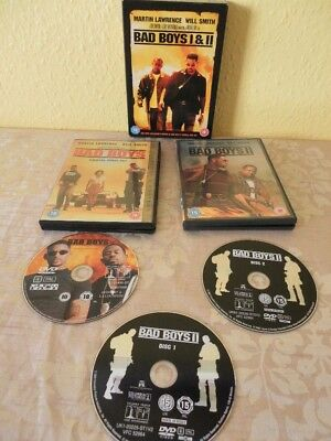 Bad Boys 1 & 2 DVD Box Set Will Smith Region 2. 15, 18 Certificate