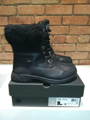 63e946e4e30 UGG AUSTRALIA BUTTE 5521 Waterproof Black Leather Boots Mens Size 9 ...