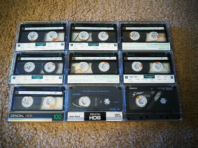 Lot of 6 Denon HD7 / 100 Cassette Tapes