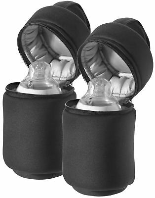 Tommee Tippee Closer To Nature 2x INSULATED BOTTLE BAGS Accessories Travel BN