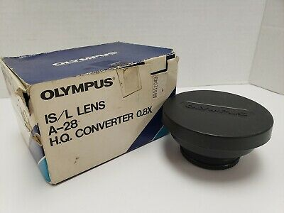 Olympus IS/L Converter (49mm) A-28 HQ 0, 8 x Lens IN BOX FREE SHIPPING