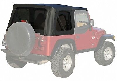 Rampage Products 90115 California Brief Soft Top for Suzuki Samurai Black Denim All