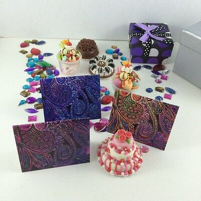 Rainbow Note card Set, Envelopes Small Cards & Tags, Designs by Amie Shalna