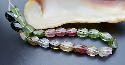 """FANCY FACETED MULTI COLOR  GREEN PINK BLUE LAVENDER TOURMALINE 5.50"""" 23.75cts"""