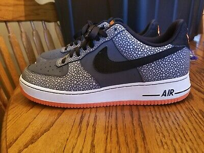 "Details about Nike Air Force 1 One Low AF1 ""Safari"" GreyBlackTotal Orange 488298 079 Size 9"