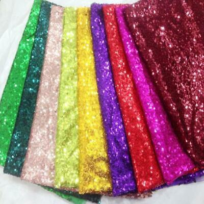 3mm mini SEQUIN Fabric 2W stretch Sparkling, Matt Or Irididescent 130cm wide
