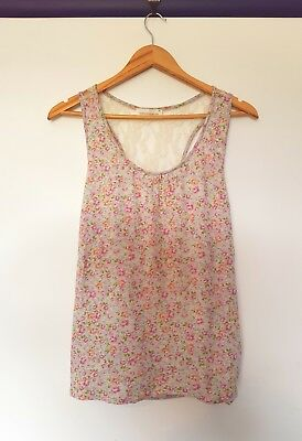 Peter alexander womens size M pink short sleeve floral lace top